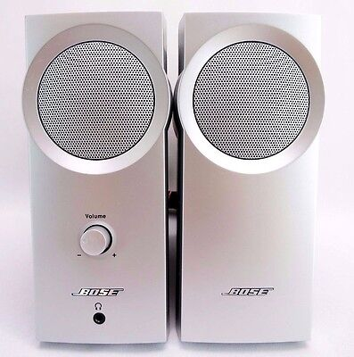 BOSE Companion 2 Series I Multimedia Speaker System Silver w/ AC Adapter, Cable