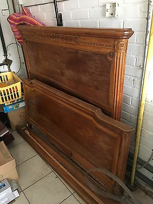 Antique French King Size Bed Frame