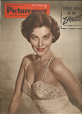 Ava Gardner On Cover - Picturegoer 7 Nov 1953 - Clark Gable - Edmund Obrien -