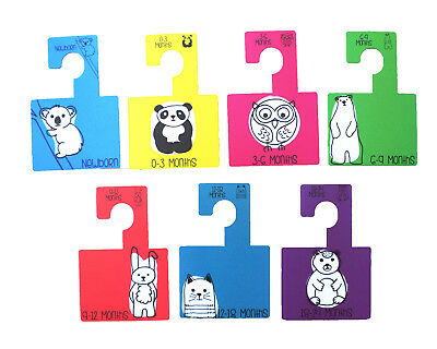 Katies Playpen Baby Clothes Wardrobe Dividers Organisers Hangers -Bright Animals