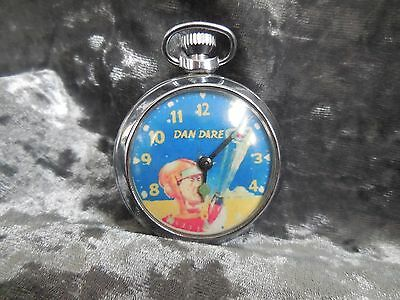 Dan Dare pocket watch with eagle on th back of case, working, space man
