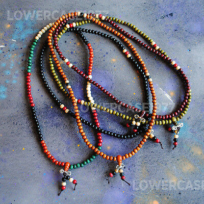 lot of 5 Sandalwood Buddhist Meditation 6mm Prayer Beads Mala Bracelet Necklace