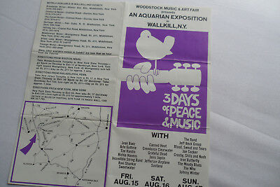 WOODSTOCK 1969___**WALKILL**__ORIGINAL SITE__ TICKET ORDER FORM__Hendrix
