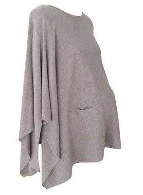 Maternity Poncho With Sleeves Cashmere Blend One Size