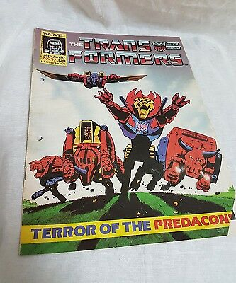 Marvel The Transformers comic UK Weekly #97 Jan 24th 1987