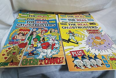 Job lot of 10 The Real Ghostbusters  Marvel UK Comics 1989