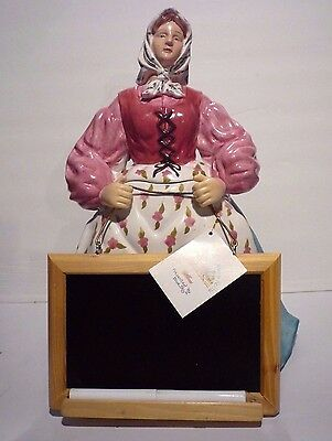 18 Carrots Laura Kelly Lady Cookie Jar Blackboard Biscuit Imported by Blue Sky