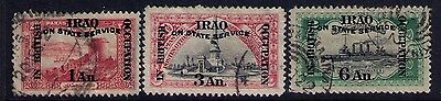 Iraq Ovpt on Otoman Stamps SC# NO2;NO5;NO7 Used