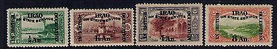 Iraq Ovpt on Otoman Stamps SC# NO14;NO16;N17; NO19 MH Wmk4