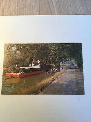 Vintage Postcard Barge Ride Delaware Canal New Hope Pennsylvania Trenton NJ