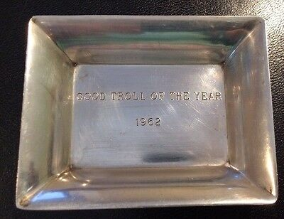 Vintage Stieff Sterling Silver Miniature 1962 Trinket Dish Ash Tray Inscribed