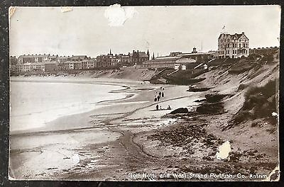 Golf Hotel & West Strand Portrush Co Antrim Postcard N Ireland 1913