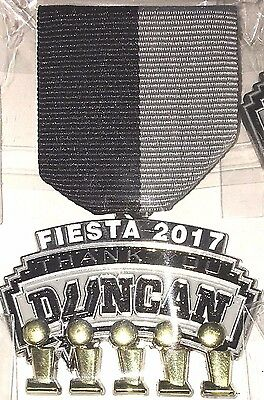 "2017 Fiesta medal ""Thank You Duncan"" SPURS collectors Tim Duncan."