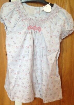 The Little White Company Girls Isla Floral Smocked Dress 12-18 Months BNWT
