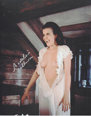 MADELEINE COLLINSON Signed 10x8 Photo HAMMER HORROR TWINS OF EVIL COA
