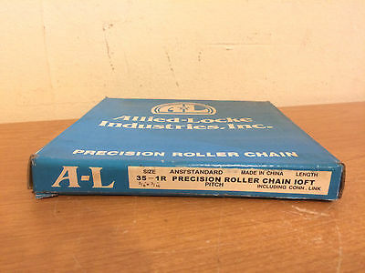 "10 Ft. Box of Allied-Locke 35-1R Roller Chain 3/8"" x 3/16"""