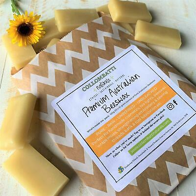 Unrefined Pure Australian Organic Beeswax Cosmetics Soap Candles Wraps Bees Wax