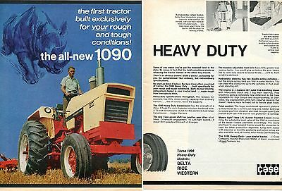1970 2 Page Print Ad of Case Agri King 1090 Heavy Duty Farm Tractor