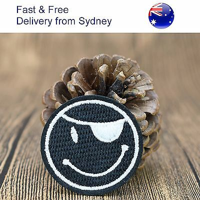 Pirate smiley Iron on patch - pirates eye patch heat transfer iron-on patches
