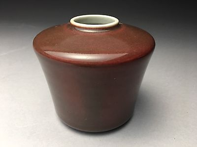 Antique Chinese Porcelain Sang De Boeuf Oxblood Red Vase Writer's Coupe
