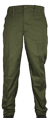Used British Army Issue Olive Lightweight Trousers