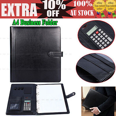 Business A4 Executive Conference Folder Portfolio PU Leather Papers Organiser SD