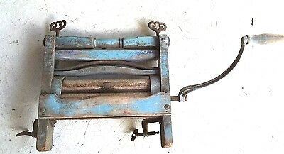 Antique Clothes Wringer by Lovell Manufacturing Co., Erie PA. blue green paint