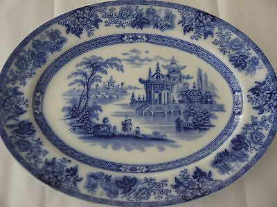 Antique*Blue&White*Blue Willow*Medium sz Platter*Doulton*Madras*England*Burslem