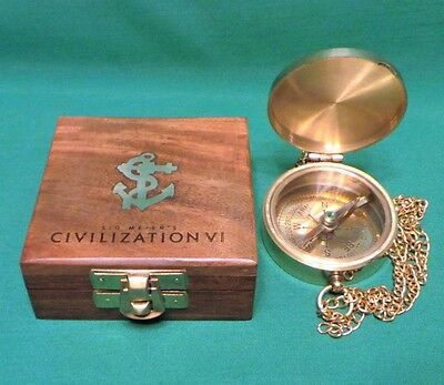 Sid Meier's Civilization VI Signature Edition Brass Compass with Wooden Box Only