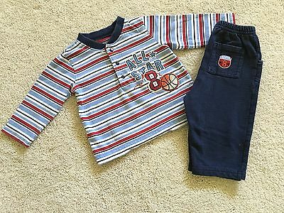 Carters ~ Baby Boy 2-Piece Set ~ Pants & Long Sleeve T-shirt ~ Size 12 M