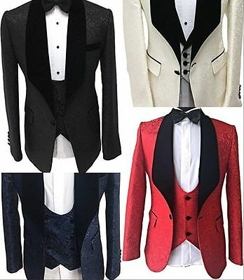 2017 Fashion 3 Piece Party Prom Men Suits Blazer Groomman Wedding Suits Tuxedos