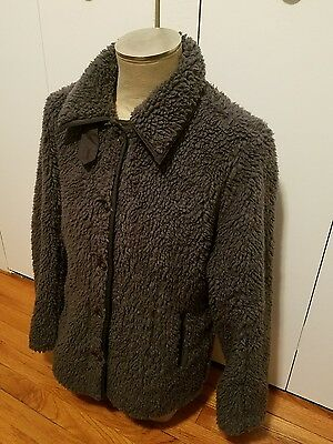 Women's size large Patagonia long fleece deep pile jacket coat