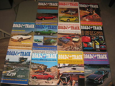 Road And Track Magazine 1971 11 Issues Lot Feb-Dec Vintage Issues