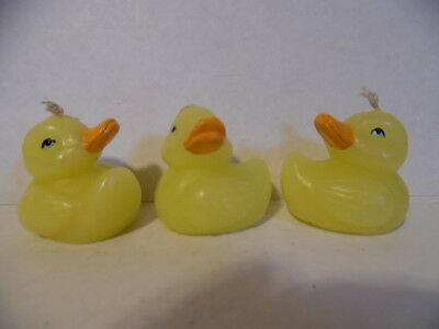 """Yellow Duck Candles 1 1/2"""" Set of 3 - Free Shipping !"""