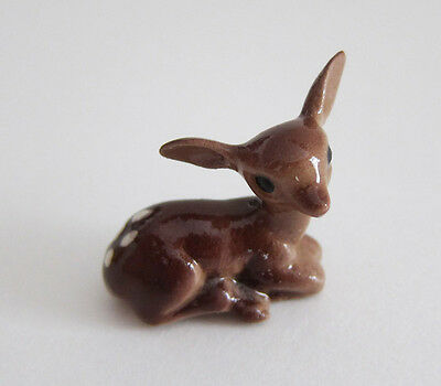 FAWN DEER Vintage Hagen Renaker Hand Made in USA Ceramic Miniature Figurine