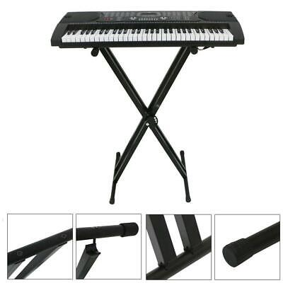 Adjustable Music Keyboard Electric Piano X-Stand Iron Dual Tube Standard Rack