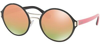 1ef6ec90a0 NEW PRADA SUNGLASSES Spr 57Ts Aav5L2 Black gold Mirror Authentic 57 ...