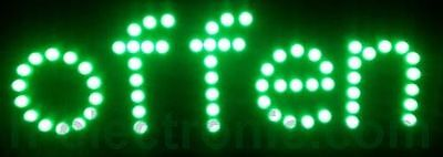 LED Signs Open Green Open Advertising Shield Neon Animation