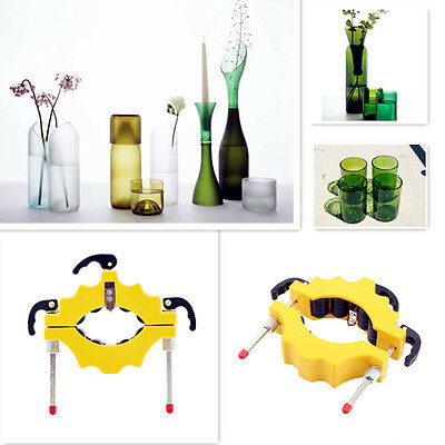 Staind Glass Bottle Cutter Tool Recycle Cutting Machine Kit Wine Beer DIY Yellow