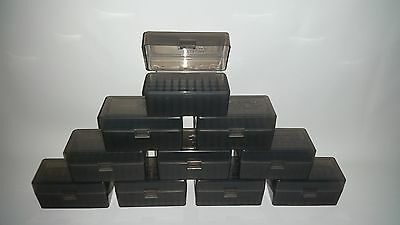 Berry's Plastic Ammo Boxes (10) Smoke 50 Round 223 / 5.56 - Free Shipping