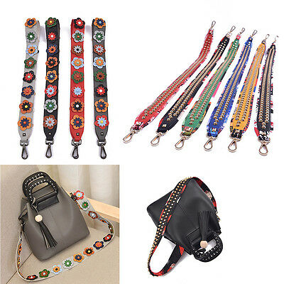 Flower Bag Strap Crossbody Replacement Shoulder Handbag Wallet Purse Handle Belt
