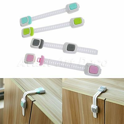 Child Baby Safety Kitchen Cabinet Door Drawer Cupboard Lock Proof  Double Button