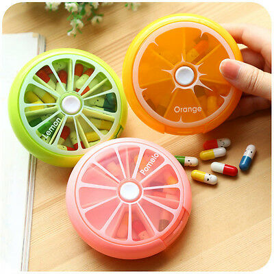 Cute Weekly Daily 7 Days Fruits Pill Box Medicine Storage Organizer Travel Home
