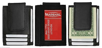 Mens Leather Wallet Money Clip Credit Card ID Holder Front Pocket Slim Thin NEW