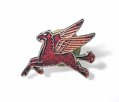 Mobil Oil Flying Pegasus Vintage Hat Lapel Pin Enamel Red Horse Facing Left