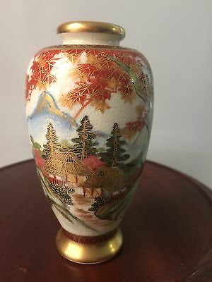 Satsuma Antique Japanese Vase with Mark