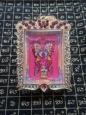 Magic Butterfly Amulet Kruba Krissana with Wealth Jin Cheok-Gems-Holy Takruts