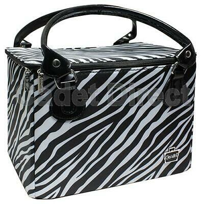 Travel Beauty Cosmetic Makeup Carry Case Bag Tote Zebra Print