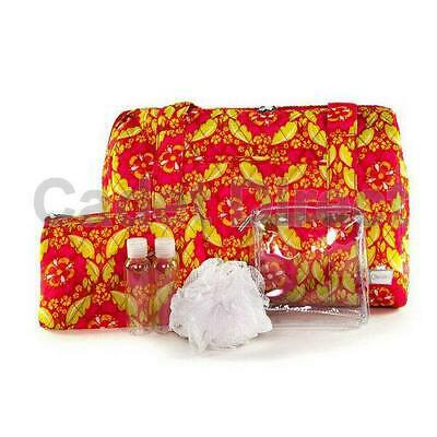 Sleepover Overnight Bag 6pc Set, 1x Bag, 2x Pouches, 2x Travel Bottles, 1x Pouf