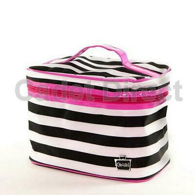 Soft Sided Train Case for Cosmetics, Makeup & Accessories w/ Internal Mirror